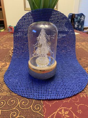 Blown glass Christmas tree music box for Sale in Castle Creek, NY