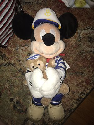 Sailor Mickey w/Duffy the bear Disney plush doll for Sale in Tacoma, WA