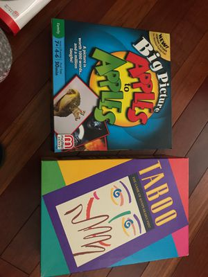 2 Board games. Really fun to play with family/friends. (Taboo & Apples to Apples) for Sale in Alameda, CA