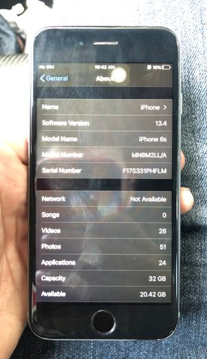 Iphone 6s 32gb unlocked for Sale in Katy, TX