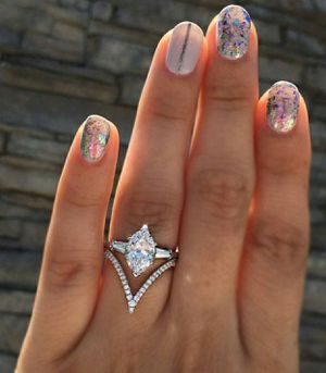 Size 7 White Sapphire Silver Ring for Sale in Wichita, KS