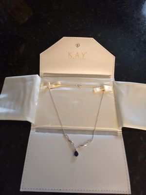 Sapphire and diamond necklace for Sale in Groveland, FL