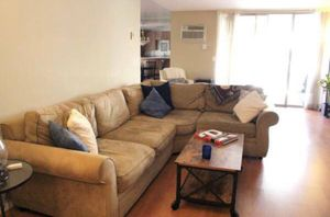 Pottery Barn 3 Piece L Couch - Brown Suede for Sale in Los Angeles, CA