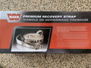 Warn recovery Strap and Jeep bag for Sale in Gilbert, AZ