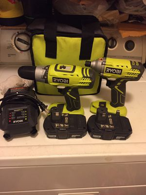 ROYBI 18V DRILL AND IMPACT WRENCH for Sale in Boston, MA