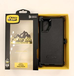 OtterBox Defender Case For Samsung Galaxy Note 10 with Belt Clip Holster BLACK for Sale in Los Angeles, CA