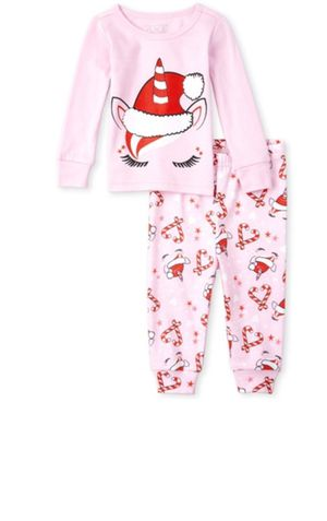 Girls Very Merry Unicorn Matching Snug Fit Cotton Pajamas for Sale in Miami, FL