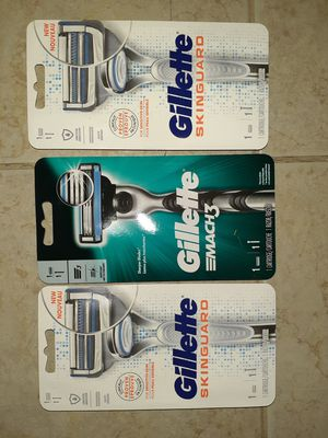 Gillette mens razors skinguard mach 3 for Sale in Erie, PA