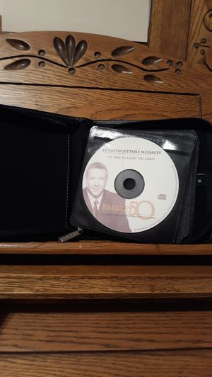 ROD PARSLEY'S 50TH ANNIVERSARY CD SET 10 PREACHING CDS IN A NICE LEEDS ZIP CASE for Sale in Lynchburg, VA