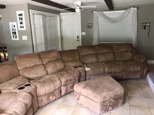 Dark tan sectional for Sale in Grafton, MA