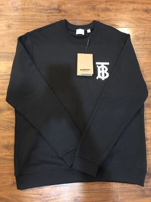 Burberry Men's Dryden TB Monogram Cotton Sweatshirt for Sale in Irwindale, CA