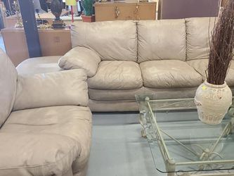 Ashley furniture Leather couch, chair & Ottoman Set. $650 FIRM for Sale in Clermont,  FL