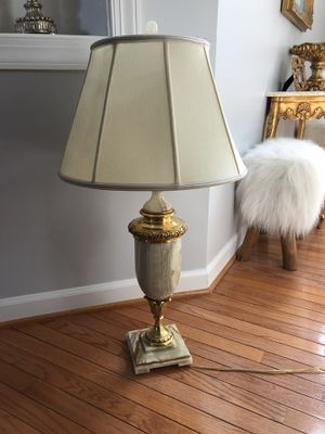 Large Antique Vintage Italian Marble brass Lamp for Sale in Gainesville, VA
