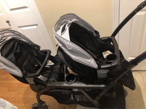 Graco double stroller with car seat and base for Sale in Vienna, VA