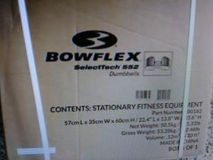 New never assembled Bowflex stand and new never opened select tech 552 dumbbells! for Sale in Miramar, FL