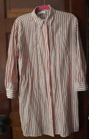stripped linen shirt dress or tunic for Sale in Medford, MA