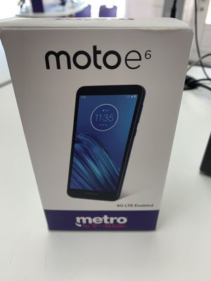Free Moto E6 Starting New Line From Metro by T-Mobile for Sale in Indianapolis, IN