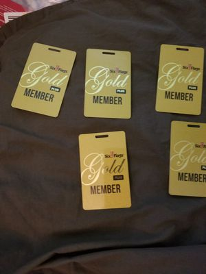 Sixflags Gold Plus card for Sale in Bristol, PA