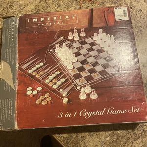 imperial crystal chess set 3 In 1 for Sale in Woodbridge, VA