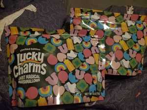 4 limited edition lucky charms marshmellow bags for Sale in Victoria, TX