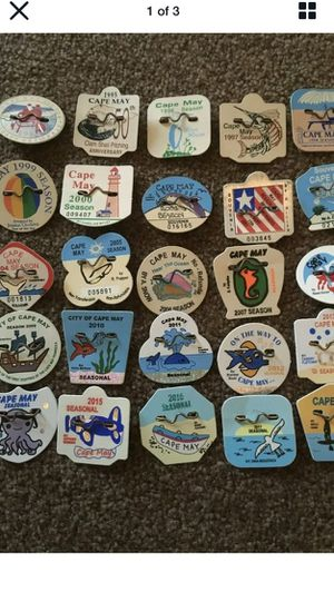 Cape May seasonal beach badges, tags for Sale in Cherry Hill, NJ