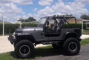 Custom lifted jeep wrangler 350 smallblock full custom for Sale in Orlando, FL
