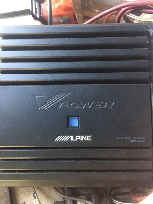 Alpine V-power amplifier with all wires included