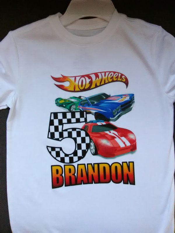 Hot Wheels Personalized Birthday Shirt 15