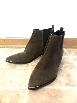 "Marc Fisher ""Yale"" Olive/Brown Suede Booties - Women's Size 8 for Sale in Muscatine, IA"