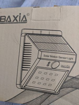 Baxia solar powered security lights for Sale in Montgomery, AL