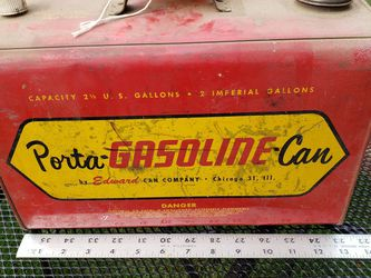 Vintage 2 1/2 Gallons Porta Gasoline Can By Edward Can Company for Sale in Stockton,  CA
