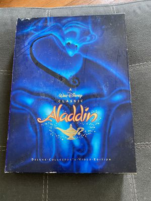 Aladdin Disney super rare collectors edition lithograph VHS Black Diamond sedition for Sale in Hutto, TX