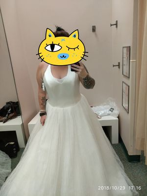Vera Wang White Halter Tulle/Satin Wedding Gown for Sale in Durham, NC