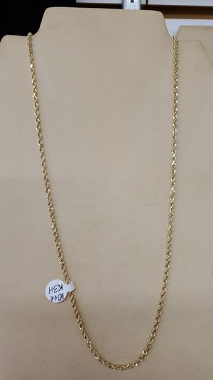 Solid gold 10kt Rope. Chain, 2.5mm, 22inch for Sale in Lyndhurst, OH