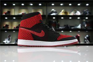 Nike Air Jordan 1 Retro Hi Flyknit black red Basketball Shoes for Sale in Tacoma, WA