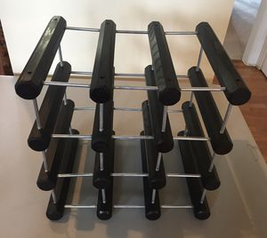 Wood/metal wine rack (holds 9 bottles) for Sale in Damascus, MD