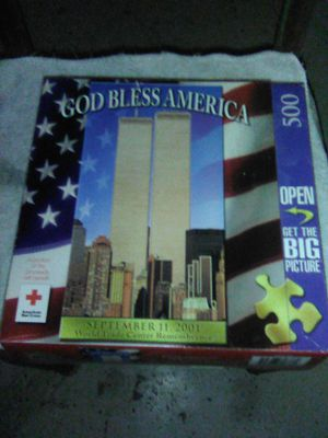 500 God bless America puzzle for Sale in Grand Junction, CO