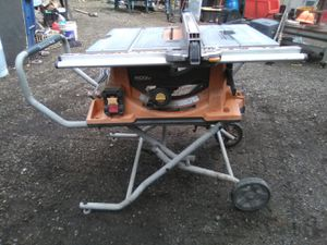 """10"""" Rigid table saw and folding stand for Sale in Renton, WA"""