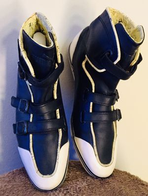 RARE PUMA BUCKLE HIGH HI TOP LEATHER TRAINER SNEAKERS SHOE for Sale in Torrance, CA