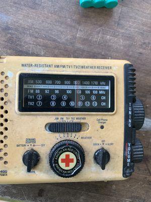 Needs battery* emergency all-weather resistant AM/FM Radio Hurricane Storm Tornado. Rechargeable American Red Cross emergency alert for Sale in Bradenton, FL
