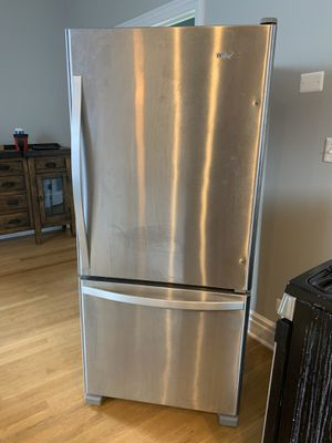 Whirlpool Refrigerator Stainless Steel - Perfect Condition for Sale in Chicago, IL