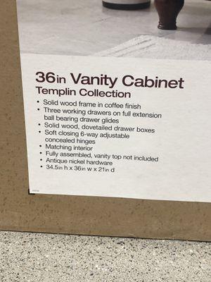36 in Vanity Cabinet for Sale in Bailey's Crossroads, VA