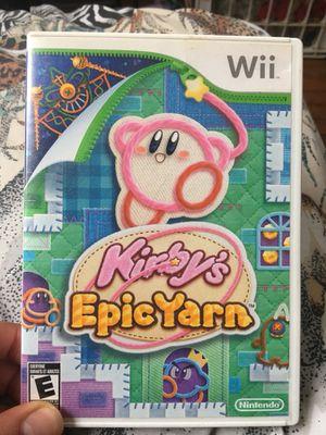Kirby's Epic Yarn (Wii) for Sale in Fairfax, VA