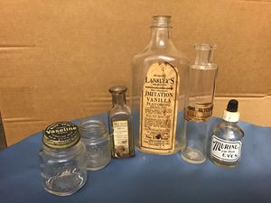 Vintage bottles/jars. All came from family estate in Syracuse, NY for Sale in Ocean View, DE