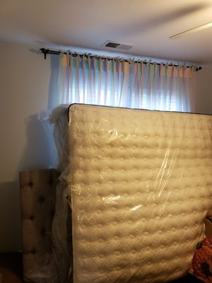 King size bed and mattress brand new never used for Sale in Pineville, NC