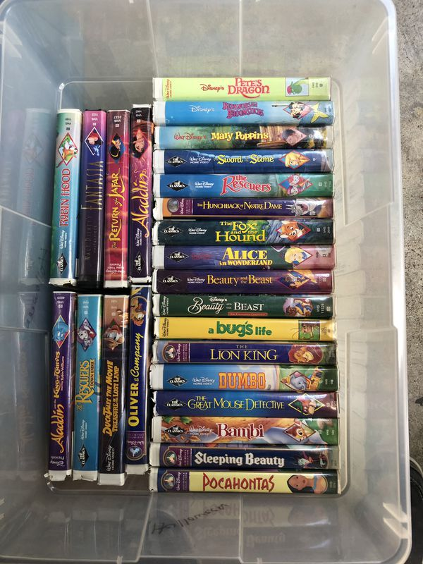 Disney VHS Tapes- Assorted