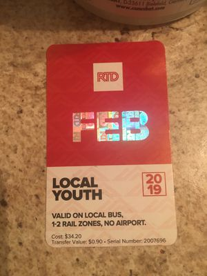 February buss pass 6yr old -19yr old for Sale in Fort Collins, CO