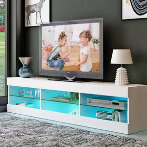 """New 57"""" tv stand in box/ entertainment center comes with led lights for Sale in Fort Lauderdale, FL"""