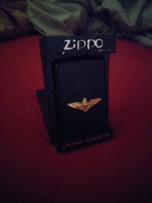 Zippo, black matte with gold Navy wings. for Sale in Austin, TX