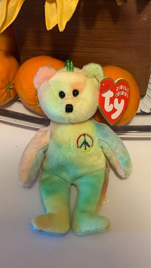 Ty Jingle Beanies Peace Bear Plush Stuffed Animal Retired W Tag for Sale in McHenry, IL